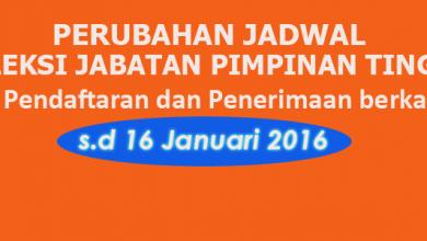 Photo of Perubahan Jadwal Seleksi JPT