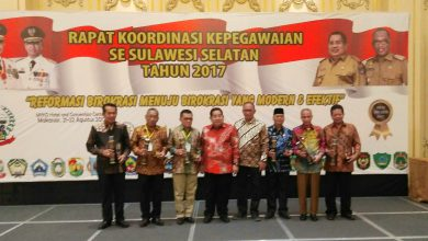 Photo of BKPSDM Wajo Raih Terbaik Pertama BKD Award 2017